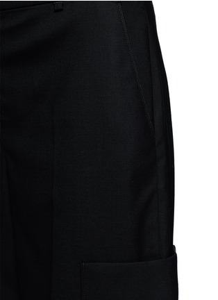 细节 - 点击放大 - RAG & BONE - ELLIS羊毛七分长阔腿裤