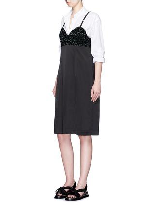 模特示范图 - 点击放大 - DRIES VAN NOTEN - 亮片装饰吊带连衣裙