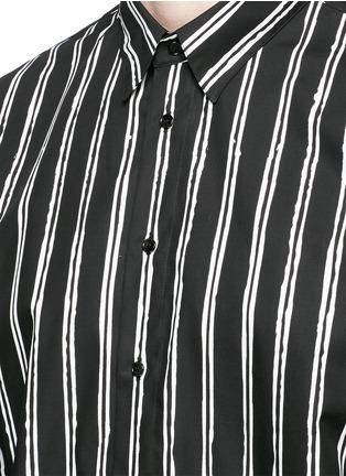 细节 - 点击放大 - DOLCE & GABBANA - 竖纹印花纯棉府绸衬衫