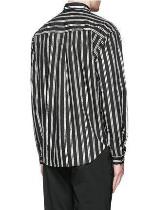 背面 - 点击放大 - DOLCE & GABBANA - 竖纹印花纯棉府绸衬衫