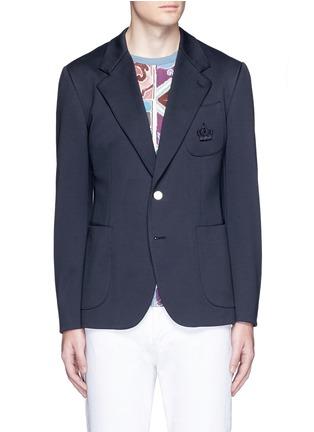 首图 - 点击放大 - DOLCE & GABBANA - 皇冠刺绣混棉西服外套