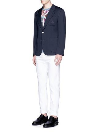 模特儿示范图 - 点击放大 - DOLCE & GABBANA - 皇冠刺绣混棉西服外套