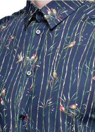 细节 - 点击放大 - DOLCE & GABBANA - GOLD竹林雀鸟印花衬衫