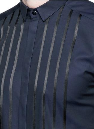 细节 - 点击放大 - DOLCE & GABBANA - GOLD缎面拼贴礼服衬衫