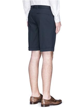 背面 - 点击放大 - DOLCE & GABBANA - 卷边裤腿棉质短裤