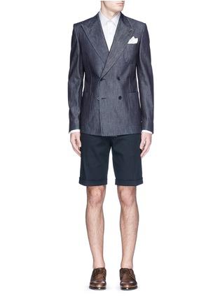 模特儿示范图 - 点击放大 - DOLCE & GABBANA - 卷边裤腿棉质短裤