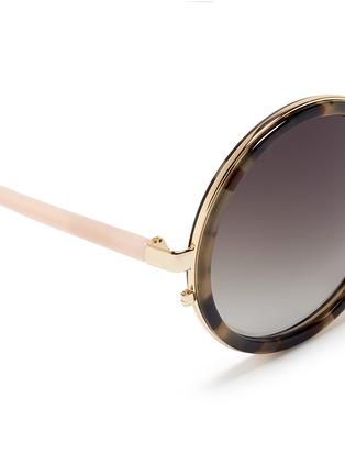 细节 - 点击放大 - MATTHEW WILLIAMSON - 琥珀纹圆框太阳眼镜