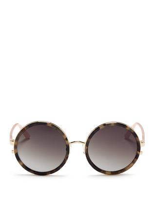 首图 - 点击放大 - MATTHEW WILLIAMSON - 琥珀纹圆框太阳眼镜