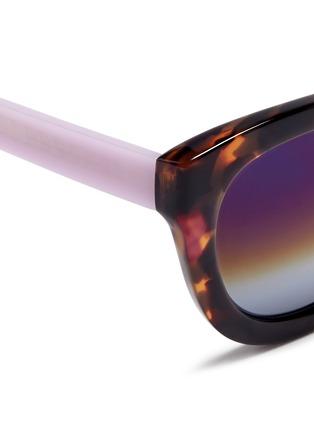 细节 - 点击放大 - MATTHEW WILLIAMSON - 拼色Wayfarer太阳眼镜