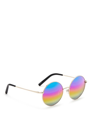 模特儿示范图 - 点击放大 - MATTHEW WILLIAMSON - 金属圆框太阳眼镜