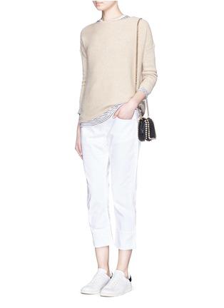 模特示范图 - 点击放大 - FRAME DENIM - LE GRAND GARÇON单色直脚牛仔裤