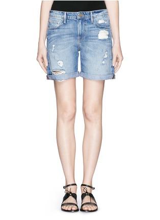 首图 - 点击放大 - FRAME DENIM - LE GRAND GARÇON水洗破洞牛仔短裤