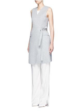 模特示范图 - 点击放大 - THEORY - LIVWILTH DF系带裹身式连衣裙