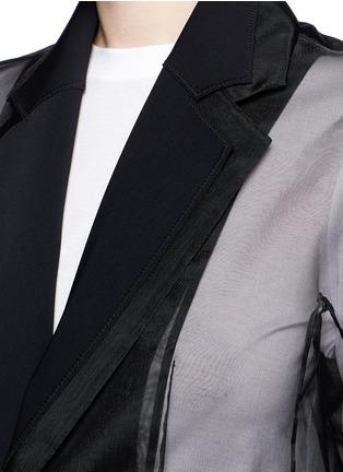 细节 - 点击放大 - TOGA ARCHIVES - 胶质印花网眼薄纱拼接长大衣