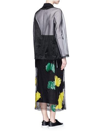 背面 - 点击放大 - TOGA ARCHIVES - 胶质印花网眼薄纱拼接长大衣