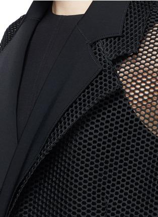 细节 - 点击放大 - TOGA ARCHIVES - 荷叶边装饰网眼大衣