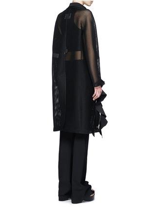背面 - 点击放大 - TOGA ARCHIVES - 荷叶边装饰网眼大衣