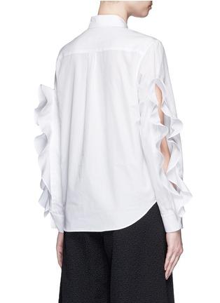 背面 - 点击放大 - TOGA ARCHIVES - 荷叶边装饰纯棉衬衫