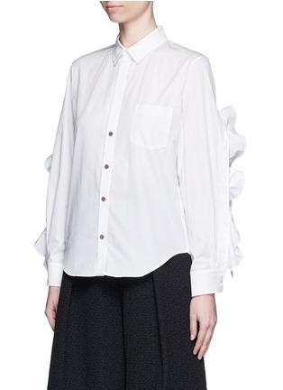 正面 -点击放大 - TOGA ARCHIVES - 荷叶边装饰纯棉衬衫