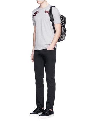 模特儿示范图 - 点击放大 - DOLCE & GABBANA - STRETCH 14纯棉修身牛仔裤