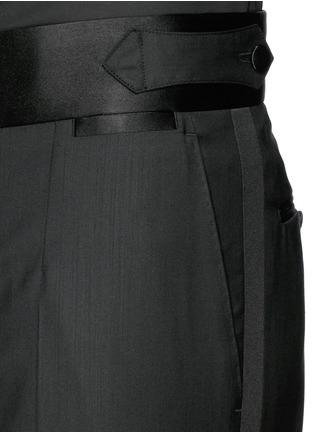 细节 - 点击放大 - DOLCE & GABBANA - 缎面裤腰礼服裤