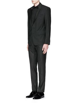 模特儿示范图 - 点击放大 - DOLCE & GABBANA - 缎面裤腰礼服裤
