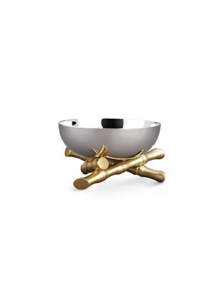 首图 –点击放大 - L'OBJET - 镀24K竹节金底座不锈钢碗