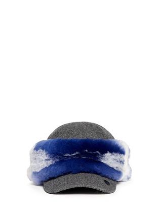 首图 - 点击放大 - MAISON MICHEL - 兔毛点缀毛毡棒球帽