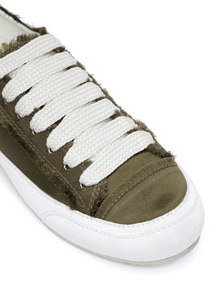 细节 - 点击放大 - PEDRO GARCÍA - PARSON缎面拼接系带运动鞋