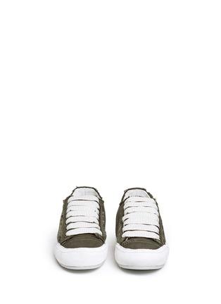 正面 -点击放大 - PEDRO GARCÍA - PARSON缎面拼接系带运动鞋