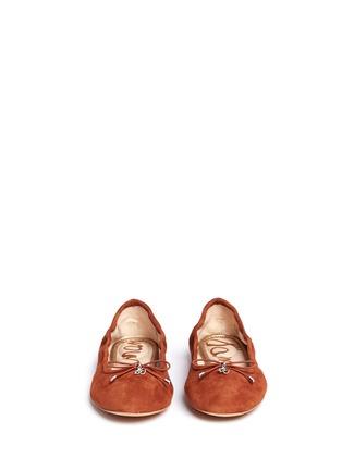 正面 - 点击放大 - SAM EDELMAN - FELICIA绒面皮蝴蝶结芭蕾平底鞋