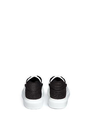 背面 - 点击放大 - PEDDER RED - LORY鱼鳞纹拼色运动鞋