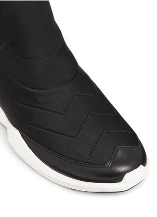 细节 - 点击放大 - ASH - QUID锯齿条纹太空棉球鞋