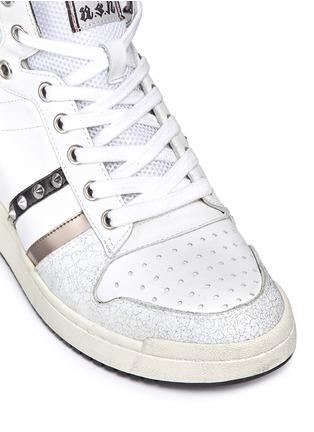 细节 - 点击放大 - ASH - PRINCE皮革拼接隐藏式坡跟球鞋