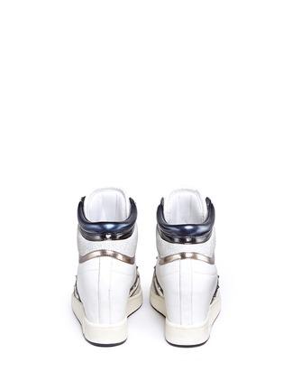 背面 - 点击放大 - ASH - PRINCE皮革拼接隐藏式坡跟球鞋