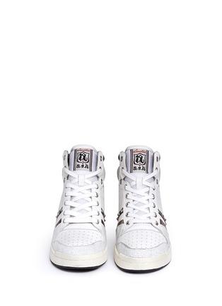 正面 -点击放大 - ASH - PRINCE皮革拼接隐藏式坡跟球鞋