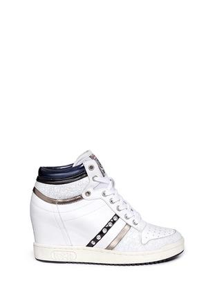 首图 - 点击放大 - ASH - PRINCE皮革拼接隐藏式坡跟球鞋