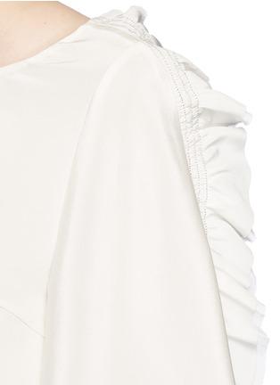 细节 - 点击放大 - 3.1 PHILLIP LIM - 荷叶边装饰真丝上衣