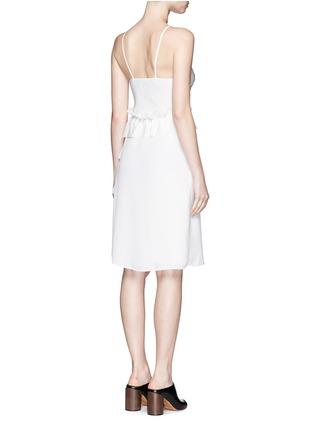 背面 - 点击放大 - 3.1 PHILLIP LIM - 荷叶边装饰真丝吊带连衣裙