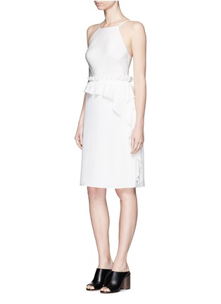 模特示范图 - 点击放大 - 3.1 PHILLIP LIM - 荷叶边装饰真丝吊带连衣裙