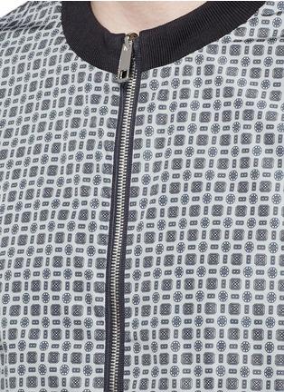 细节 - 点击放大 - DOLCE & GABBANA - 两面穿印花尼龙夹克