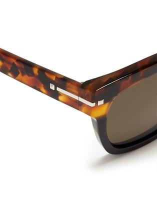 细节 - 点击放大 - VALENTINO - Valentino Garavani拼色大方框太阳眼镜