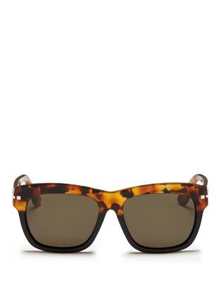 首图 - 点击放大 - VALENTINO - Valentino Garavani拼色大方框太阳眼镜