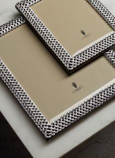 L'OBJET 编织相框-银色