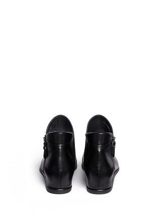 背面 - 点击放大 - STUART WEITZMAN - LOWKEY真皮坡跟踝靴