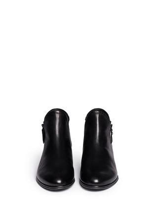 正面 -点击放大 - STUART WEITZMAN - LOWKEY真皮坡跟踝靴