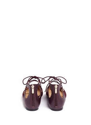 背面 - 点击放大 - SAM EDELMAN - Rosie绒面皮拼接系带平底鞋