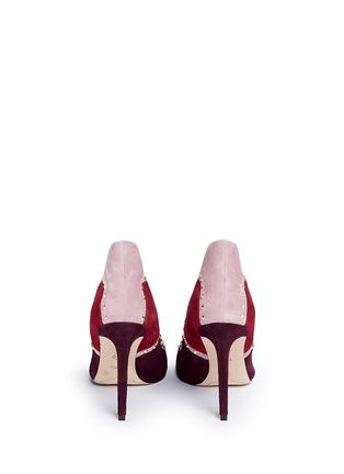 背面 - 点击放大 - SAM EDELMAN - 拼贴设计铆钉装饰绒面真皮高跟鞋