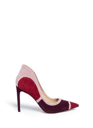 首图 - 点击放大 - SAM EDELMAN - 拼贴设计铆钉装饰绒面真皮高跟鞋