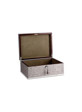细节 –点击放大 - L'OBJET - 黄铜边缘花纹木质首饰盒 - 大号